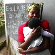 Mother with her Child at Ebola Clinic